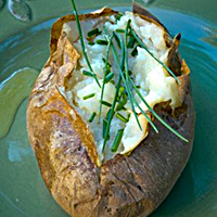 Chives Are a Great Topping On Baked Potatoes