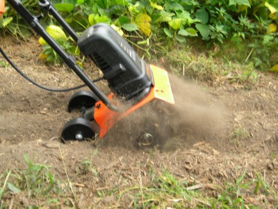 The Remington Electric Tiller Does a Great Job of Churning the Soil