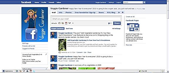 Veggie Gardener Facebook Page