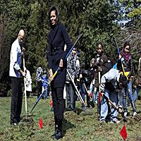 Michelle Obama In the Vegetable Garden