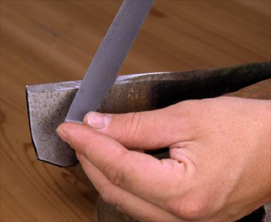 Carefully Sharpen Blades and Edges Once a Year or As Needed