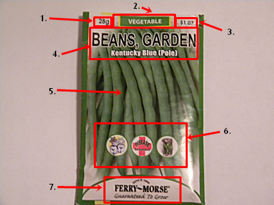 How To Read Front of a Seed Packet