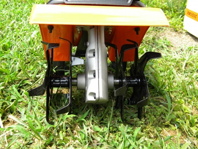 The Remington Electric Tiller Features 4 RemovableTines