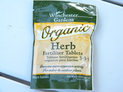 Winchester Gardens Organic Herb Fertilizer Tablets